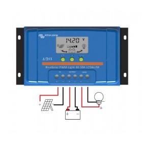 Regulador de carga Victron PWM BlueSolar 12V/24V 30A LCD-USB