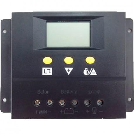 Regulador de carga PWM 12/24V.60A, con display