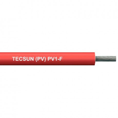 Cable solar flexible rojo 1x4mm2 RV-K 0,6/1 kV