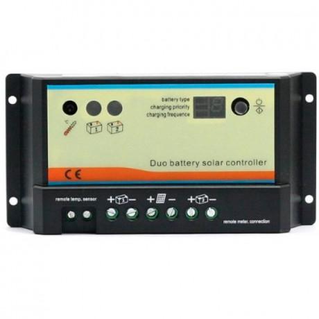 Regulador DUAL de carga PWM 12/24V.10A. DB-10A