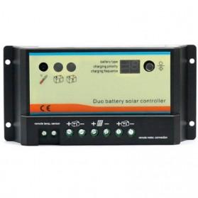 Regulador de carga PWM DUAL (dos baterías) 12/24V-10A. DB10A