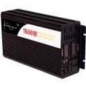 Inversor de onda pura Efitron 24V/1500W. (3000 W pico) con dos displays de tensión