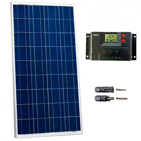 Kit fotovoltaico aislada 550 Wh/día en 12V (Potencia: 140 Wp)