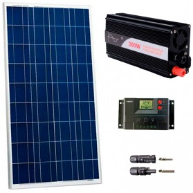 Kit fotovoltaico aislada 510 Wh/día, 230 V onda pura (Potencia: 140 Wp)