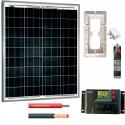Kit fotovoltaico aislada 300 Wh/día en 12V (Potencia: 80 Wp) Caravanas
