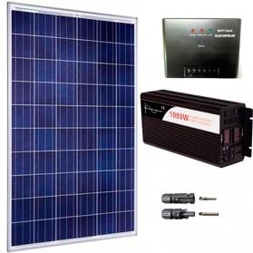 Kit fotovoltaico aislada 730 Wh/día, 230V/1000W onda pura (Pot.: 250 Wp)