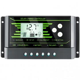 Regulador de carga PWM 12/24V.10A. Z-10, con doble USB