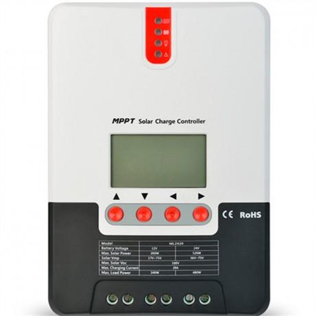 Regulador con display MPPT puro 12/24V.20A. Vmax: 100V. SR-ML2420