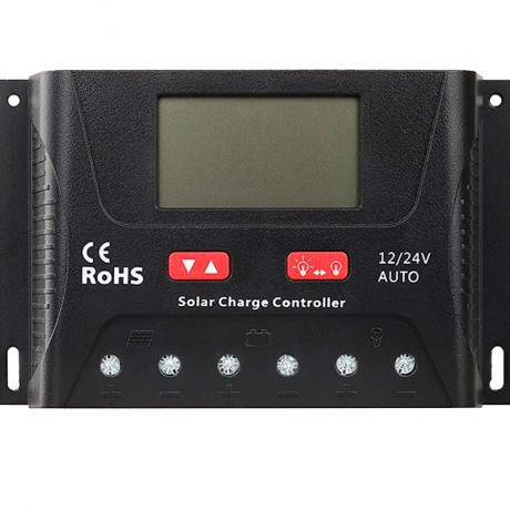 Regulador de carga PWM 12/24V de 10A y 20A. SR-HP24XX