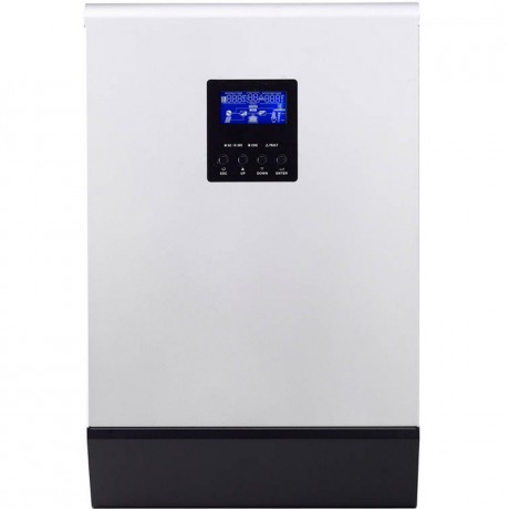 Inversor hibrido (3 en 1) de 48V/4000VA (3200 W), PWM 60A y cargador de 30A. PS-4K