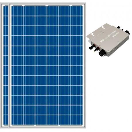 Kit de conexión a red 600 Wp (600 Wn). Munchen Solar 2x300Wp