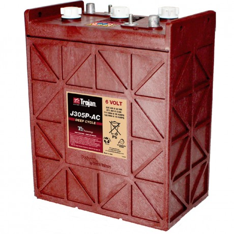 Batería Monoblock Trojan J305P-AC de 6V/367 Ah en C100 (330 Ah en C20)