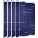 Kit de CUATRO placas solares fotovoltaicas policristalina 1100 Wp (4x275 Wp) (60 células) Amerisolar