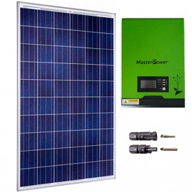 Kit fotovoltaico aislada 900Wh/día, 230V/1000W con cargador 20A (Pot.: 275 Wp).
