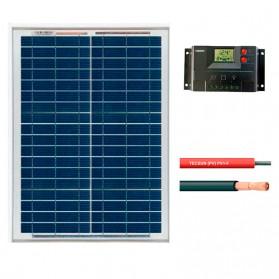 Kit fotovoltaico aislada 72 Wh/día en 12V (Potencia: 20 Wp)