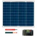 Kit fotovoltaico aislada 180 Wh/día en 12V (Potencia: 50 Wp)