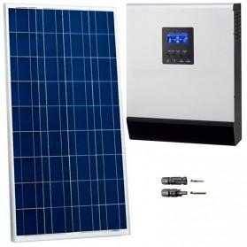 Kit fotovoltaico aislada 550 Wh/día, 230V/800W con regulador PWM de 50 A