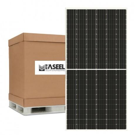 Palete de 27 paneles solares de 24V/440 Wp monocristalina de 144 células. Kaseel