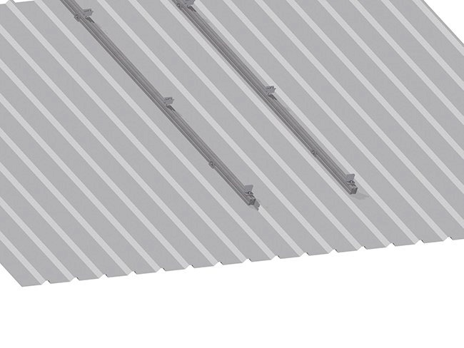 Rail sobre estructura metálica